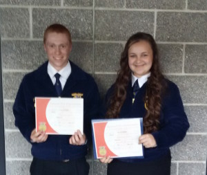 Ballmer, Waite receive FFA degrees at state convention