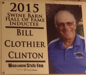 Bill Clothier inducted into Wisconsin State Fair Hall of Fame