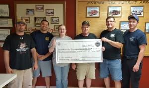 Clinton fire fighters have best year yet in fill the boot drive for MDA