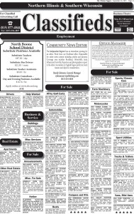9/14/17 Clinton Classifieds