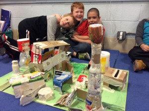 Second graders learn about building cities