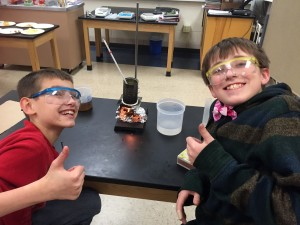 Elementary students learn about measuring food energy