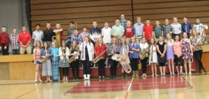 Sixth-grade band holds end-of-the-year recital
