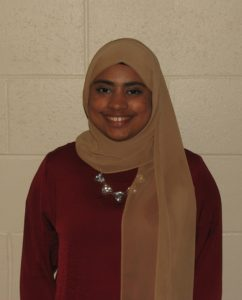 Exchange student Fatema Alsaffar enjoyed her time in Clinton