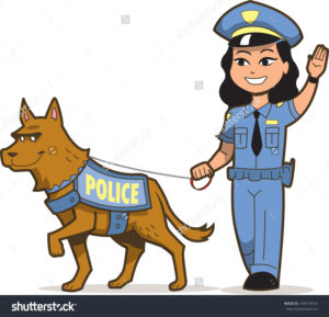 stock-vector-police-dog-and-asian-female-police-officer-144519914