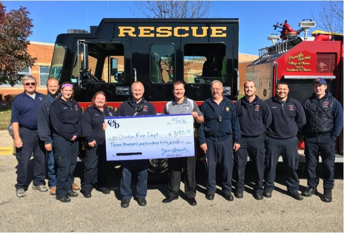 Clinton School Faculty, Staff Raises Funds for Clinton Fire Department