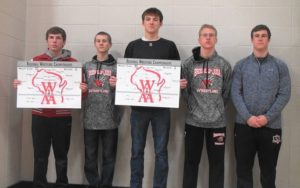 Five wrestlers to compete in sectionals