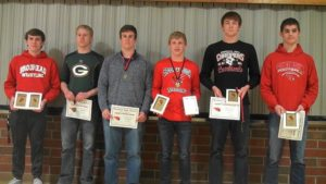 Wrestlers recognized after strong season