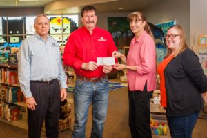 The Bank of New Glarus and Sugar River Bank Branches donate to Brodhead Memorial Public Library