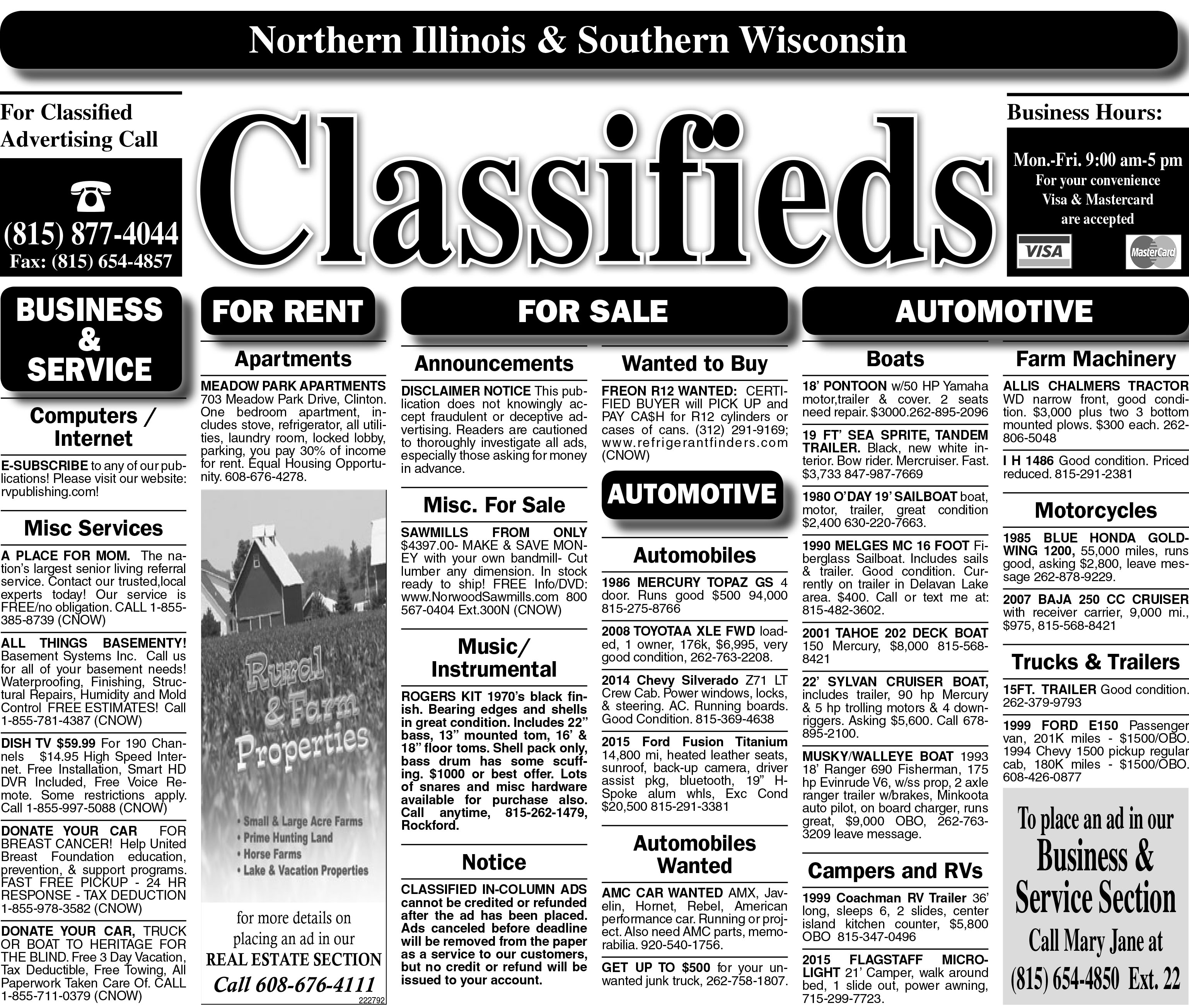 6/7/18 Clinton Classified