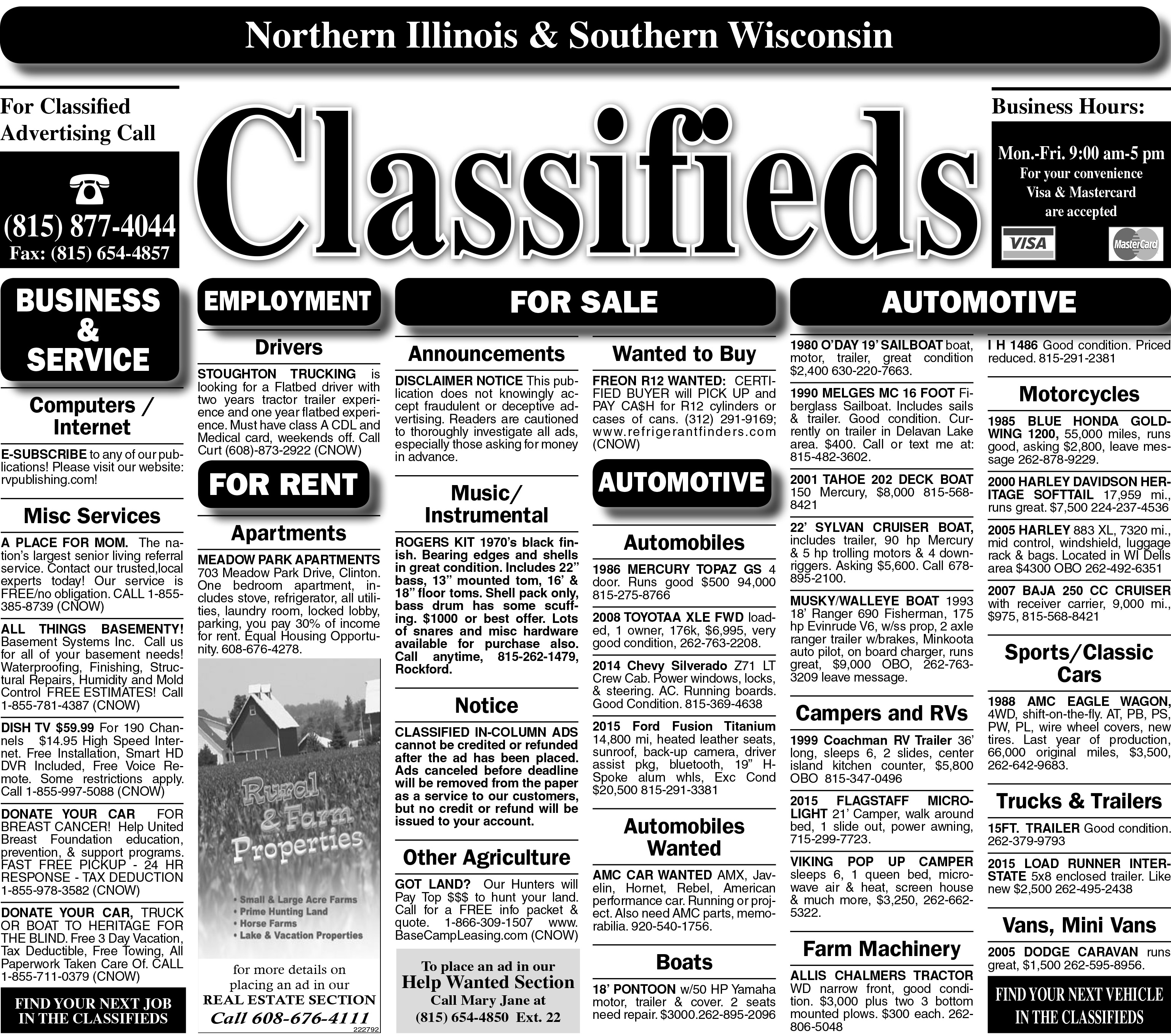6/14/18 Clinton Classified
