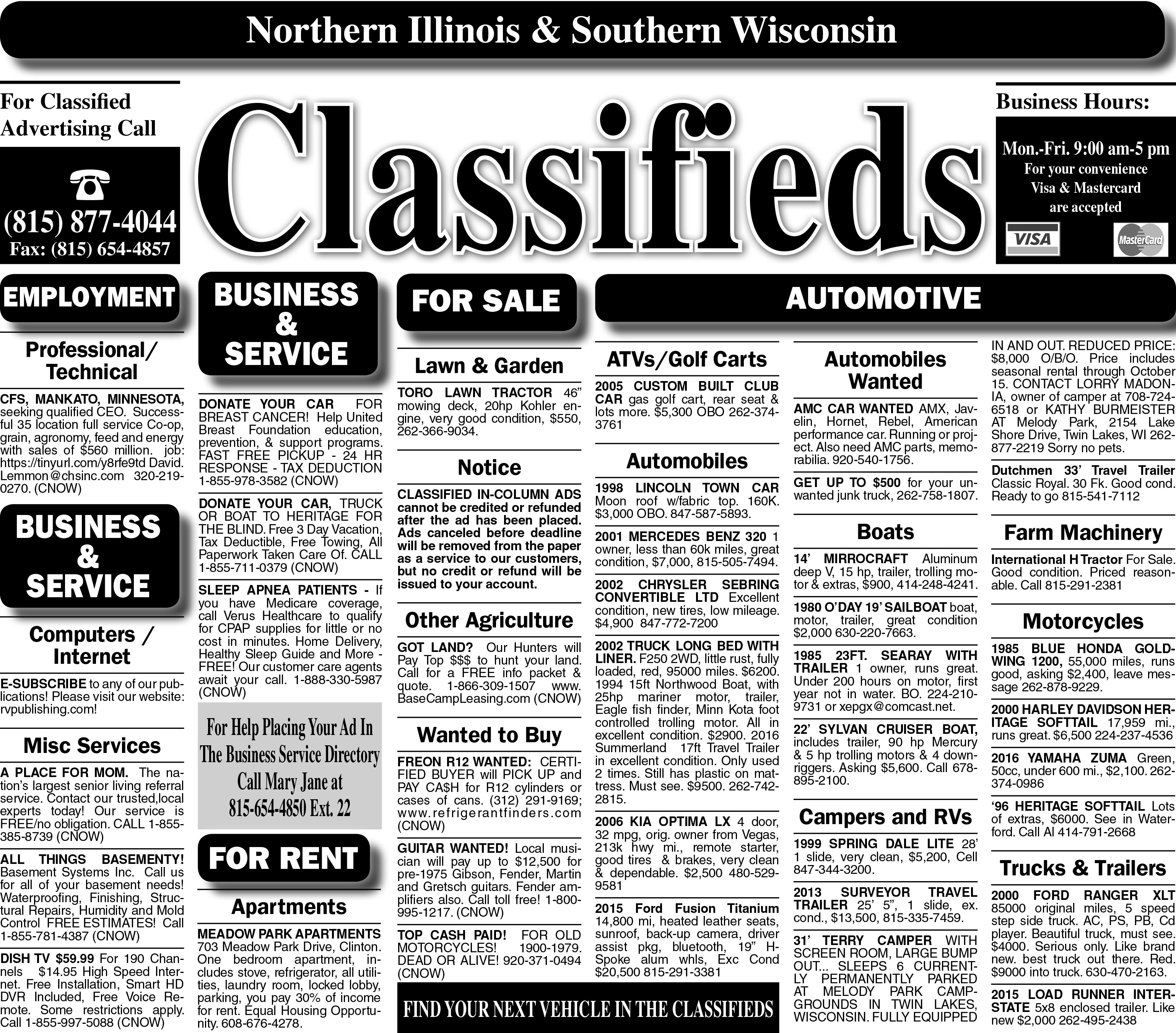 7/19/18 Clinton Classified