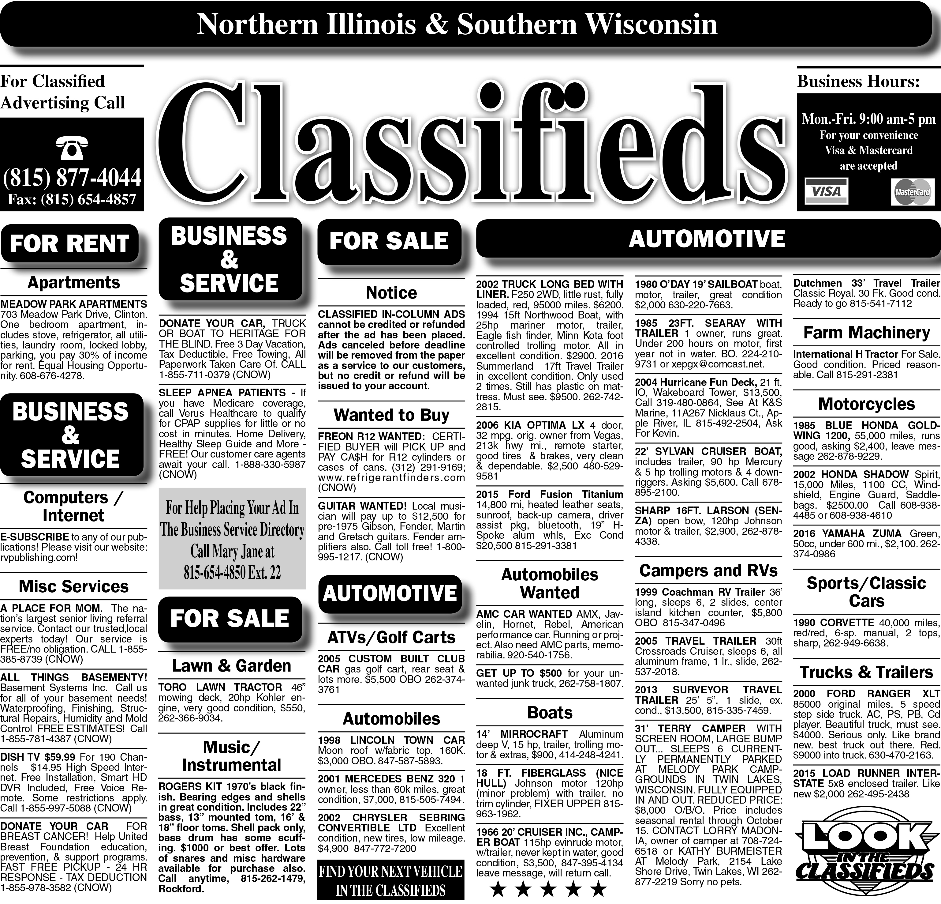 7/12/18 Clinton Classified