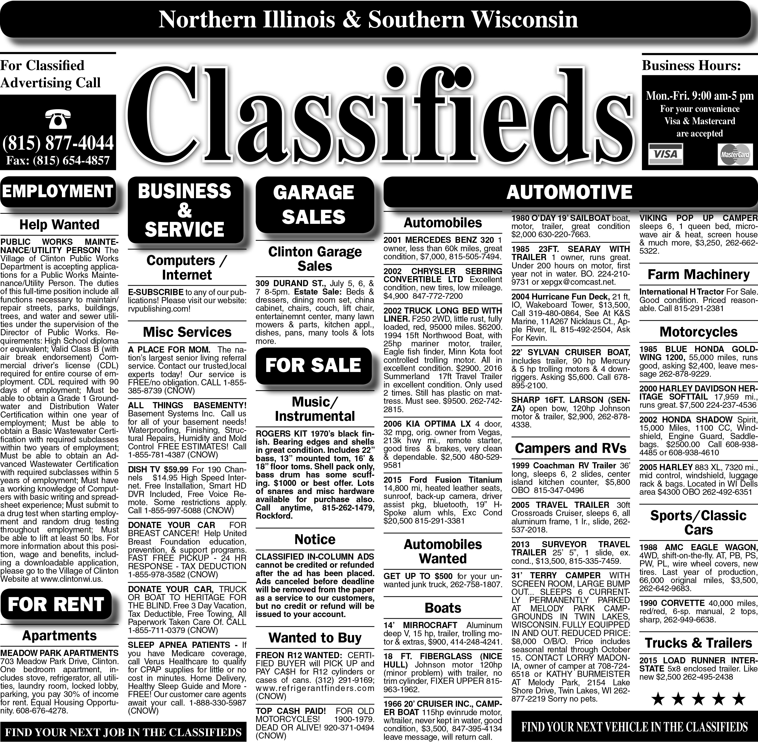 7/5/18 Clinton Classified