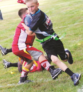 Youth flag football is underway