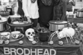 MICHELE BENESH PHOTO The Independent-Register Kirsten Fish, Aimee Fish, and Megan Weis serve chili at the Brodhead Education Association booth during AutumnFest this past weekend.