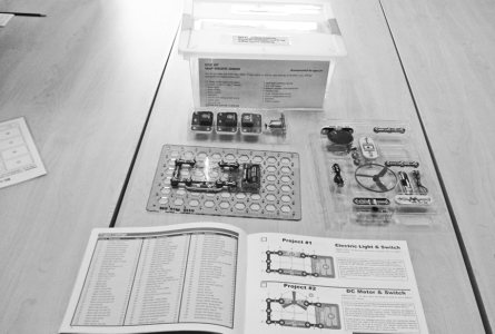 DAN MOELLER PHOTO The Independent-Register This year the Brodhead library is offering educational kits for children to take home and play with. Here are some of the items, which will be available.