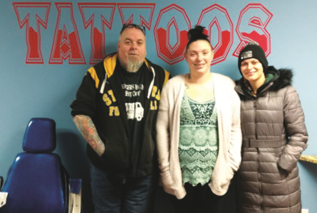 JEREMY GOKEY PHOTO The Independent-Register Owners Matt Bremer and Diana Baade and piercer Megan Socker have made Brodhead their new home for their business.