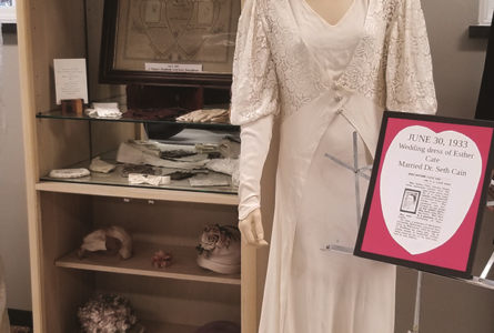 COURTESY PHOTO Independent Register The Brodhead Historical Museum will open for the summer May 25 featuring new permanent exhibits of wedding attire and Frank Engebretson paintings.