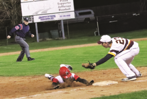 Brodhead-Juda baseball team splits double header at Jefferson