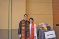 COURTESY PHOTO Independent Register  	New Brodhead United Methodist Church Pastor Kook Ho Kim with his wife Ran Yoo, who will also start a new ministry at New Horizon UMC in Orfordville. With them is their son Caleb Y. Kim, 2.