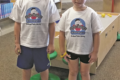 """COURTESY PHOTO Independent Register 1000 books Liam and Charleigh completed the Brodhead Me-morial Public Library's """"1,000 Books Before Kinder-garten"""" program. They recently visited the library and received a new t-shirt for completing the program. The 1,000 Books Before Kindergarten program is designed to help parents prepare their children for one of life's big milestones: kindergarten. Research projects have proven over and over that children get ready to read years before they begin their formal ed-ucation. The most effective way to get your child ready to learn is to read to them. Register your child, at the library, to participate in this valuable program."""