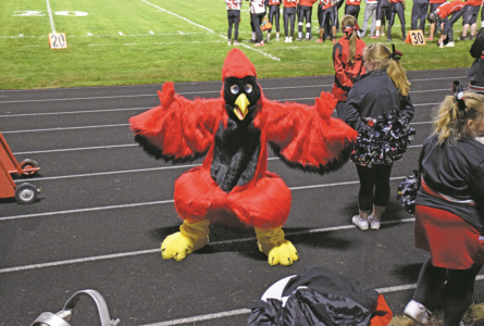 COURTESY PHOTO Independent Register Charlie Cardinal This spring, many community members donated money towards creating a new Charlie Cardinal mas-cot costume. After many months of hard work, this project has finally been completed. Charlie Cardinal made his first appearance at the Homecoming football game. Thank you to everyone that donated to this pro-ject! Be sure to look for him at future events. Allison Steuri