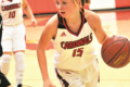 MANDY FIELDS PHOTO Independent Register Lady Cardinals v. Clinton 	Joie Steinmann attacks the defense.